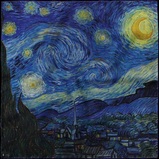 روسری طرح شب پر ستاره