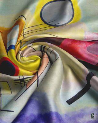""".  """" اثر هنری سرت کن ❤️ """"   طرح """" زرد قرمز آبی """"  اثر """" واسیلی کاندینسکی """"   روسري  ١٤٠*١٤٠ ( نخی ) قیمت ( بسته بندی ویژه ) : ۱۴۰/۰۰۰ تومان قیمت ( بسته بندی پارچه ای ) : ۱۲۵/۰۰۰ تومان  #روسری #روسری_خاص #روسری_نخی #گاماشال #روسری_لاکچری #هنر #کاندینسکی #شال  #scarf #scarfstyle #art #gama"""