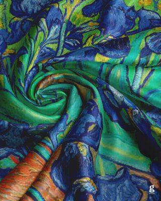 """. """" اثر هنری سَرت کن ❤️ """"   طرح """" گل های زنبق """"  اثر """" ونسان ونگوگ """"   روسري  ١٤٠*١٤٠ ( نخی )  قیمت ( بسته بندی ویژه ) : ۱۴۰/۰۰۰ تومان قیمت ( بسته بندی پارچه ای ) : ۱۲۵/۰۰۰ تومان  #روسری #روسری_خاص #روسری_حریر #گاماشال #روسری_لاکچری #هنر #ونگوگ #شال #روسری_نخی  #scarf #scarfstyle #art #gama"""